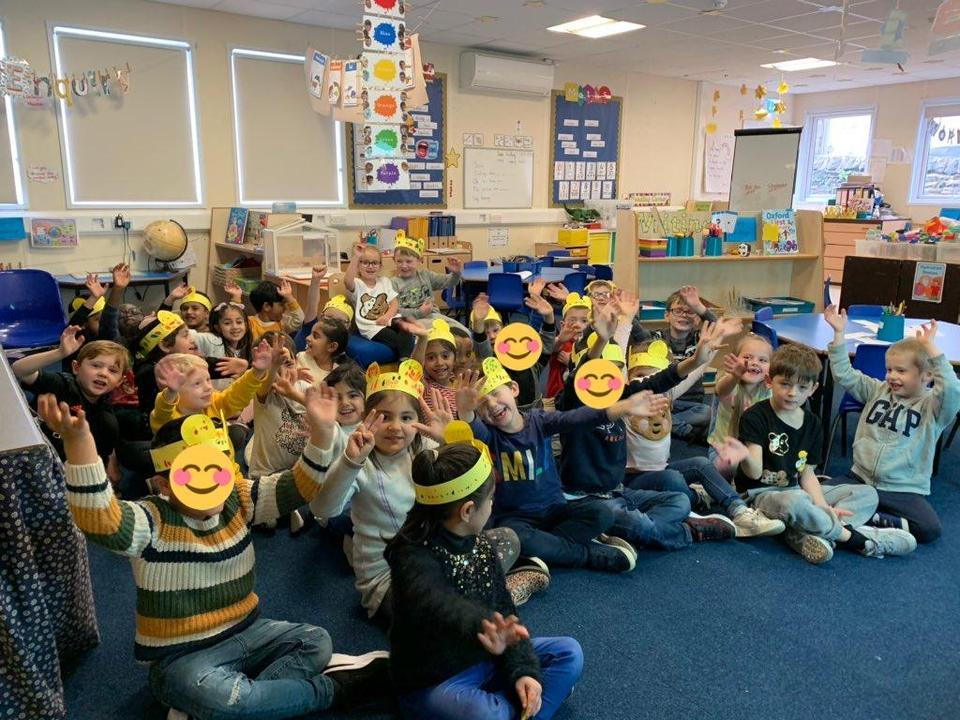 We made our own Pudsey headbands 💛