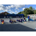 Outdoor games with Mr Lindsay