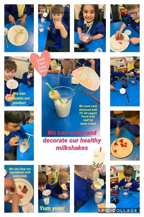 In DT we made our healthy milkshakes