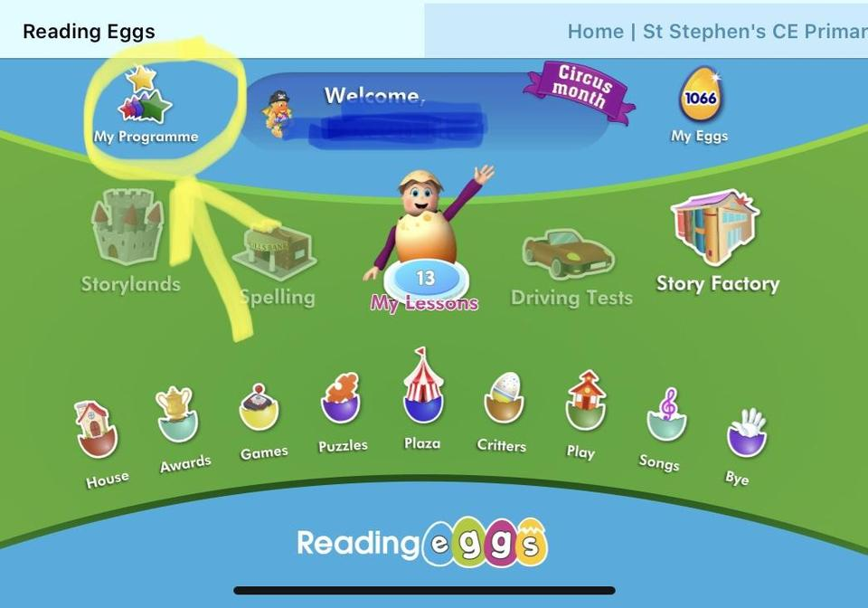 Click here to access your child's personalised program of books to read