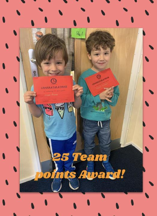 Our first team points award winners! 👏