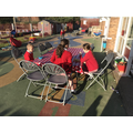 Dining al  fresco at Breakfast Club