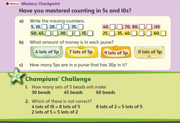 Counting in 5s and 10s!