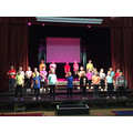 Y3 performing at Bedford High Christmas Panto