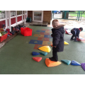 Reception pupils in the outdoor area