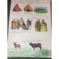 We learnt about life in the Iron Age