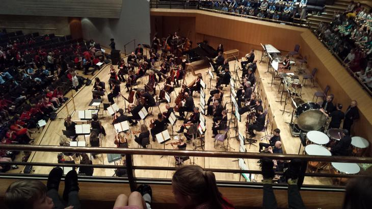 Our amazing view of the orchestra.