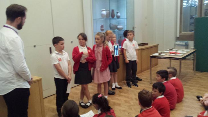 Presenting their findings.