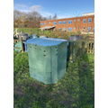 The second of our three compost 'hot bins'.