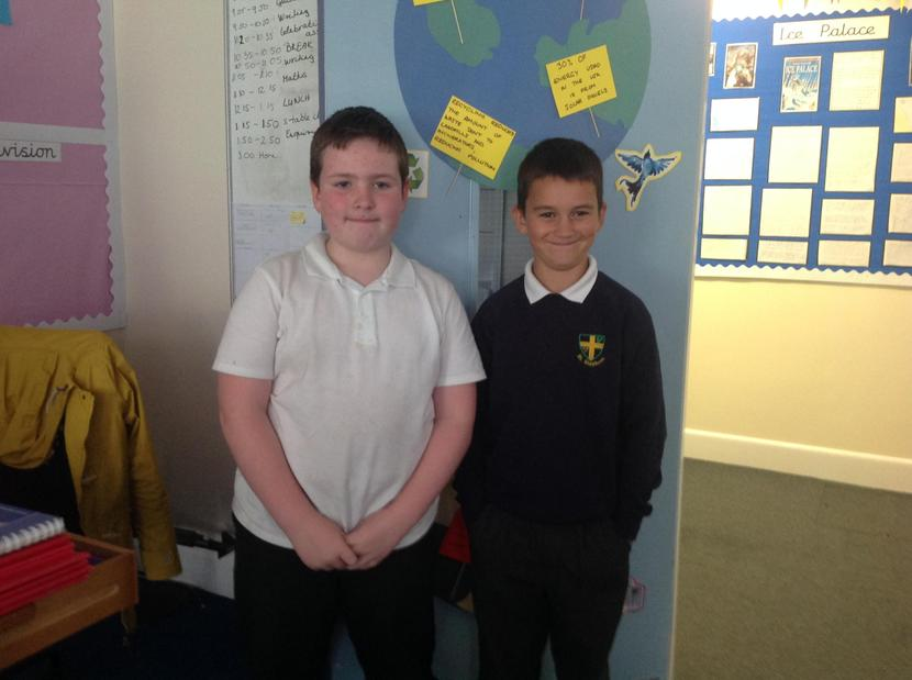 This week Charlie S was the times table champions and Steven came a very close 3rd.