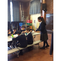 Fairtrade club served hot chocolate and cookies