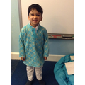 Pavan showed us his beautiful Diwali clothes