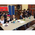 We did words searches, puzzles and competitions