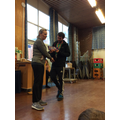 Mrs Wright thought Mr Macdonald deserved a prize!