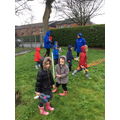 EYFS had a (wet) real Easter hunt!