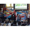 We put together our sections of the Union flag