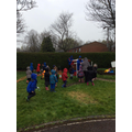 A (wet) Easter hunt!