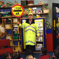 A visit from the school crossing patrol
