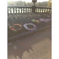 Our Remembrance wreaths looked frosty