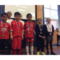Medals for the lower KS2 finalists