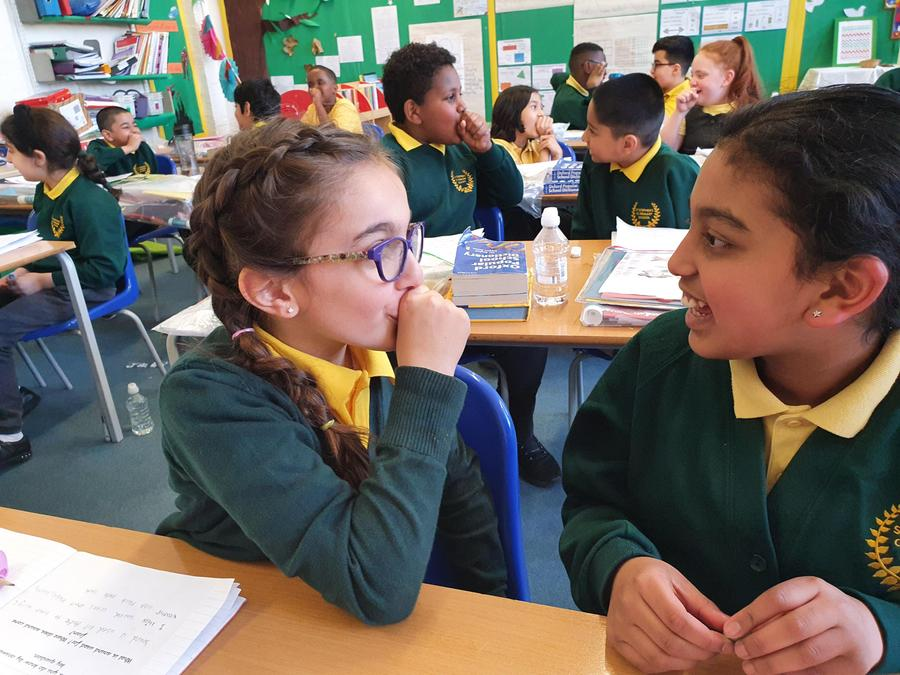 Students had to communicate to each other through a different form of sound in Science