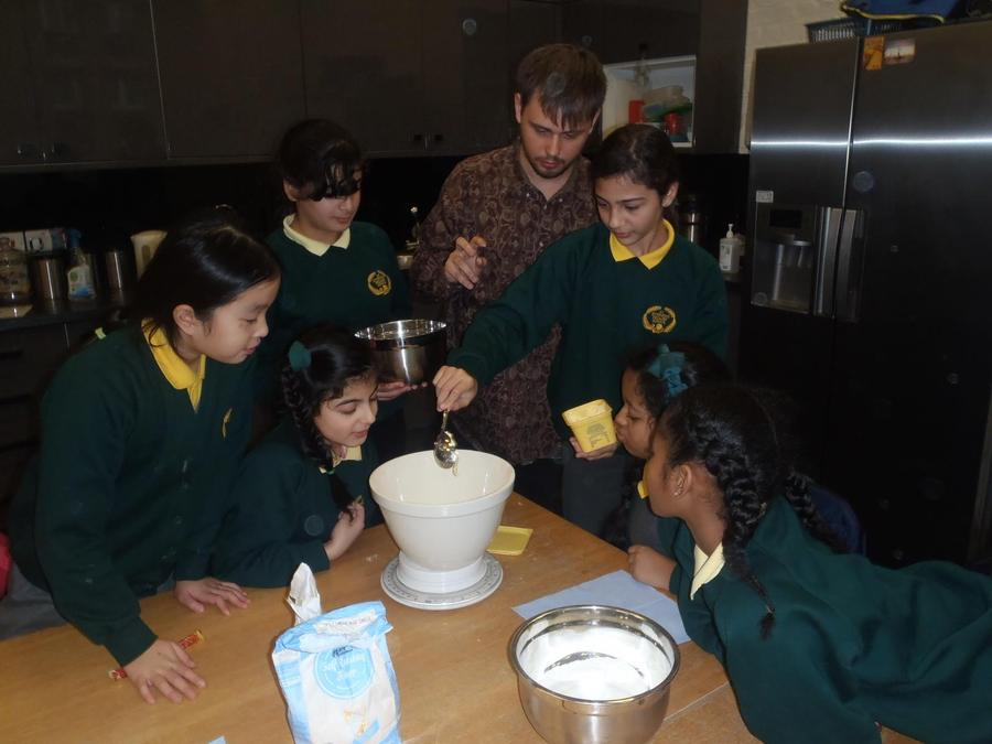 Cooking with Mr Weatherill and Ms Combes