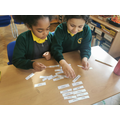 The children worked well together to match the singular and plural nouns.