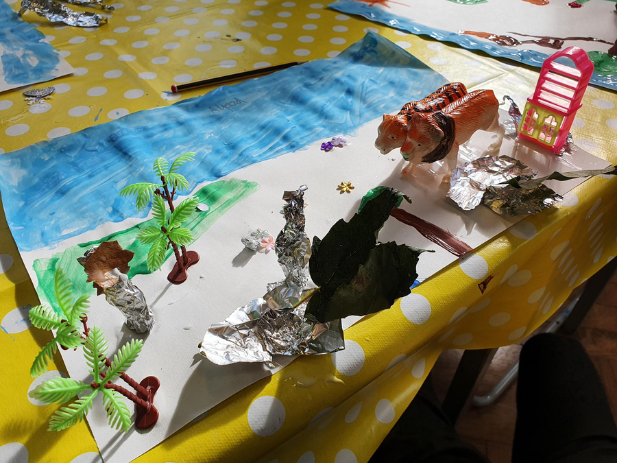Creating own Tin Forest to relate to their piece of writing