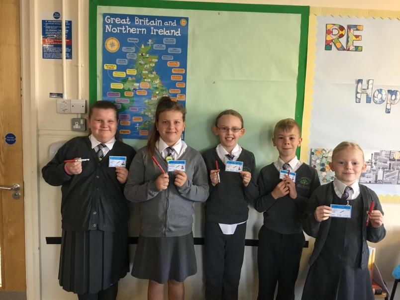 Big news in the Year 3/4 classroom, some of us have received new pen licenses this week!