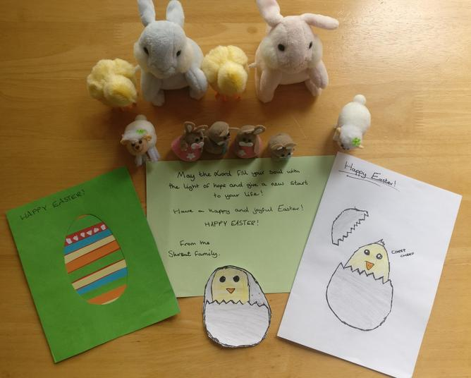 Stasio and Nela have sent us Easter greetings