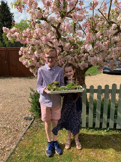 Florence and Edward's Easter Garden