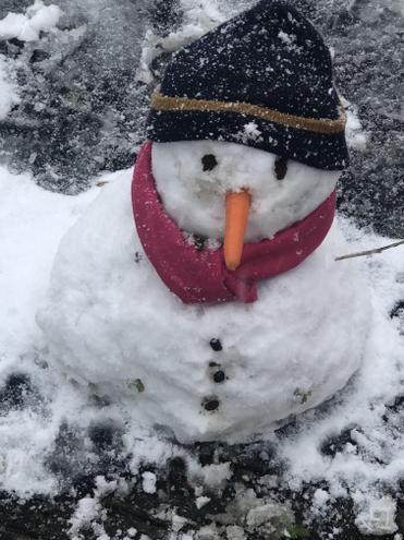 Lexi's amazing snowman!