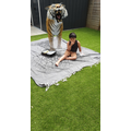 A tiger visits Kade's picnic...
