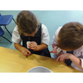 Checking how clean our hands are