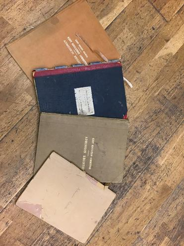 St Teresa Admission books dating back as far as 1899