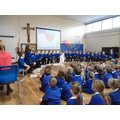 Our class assembly pictures on Baptism