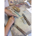 Year 4 carving soapstone fish