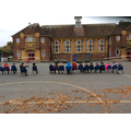 Year 2 sketching the school