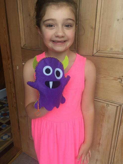 Raffi's monster puppet 'Violet'