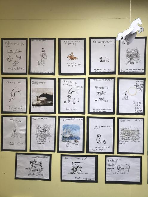 The children came up with some of their own illustrations