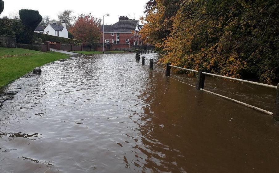 River Tean flooded