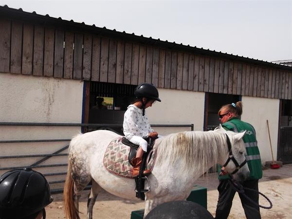 Labaika enjoyed horse riding