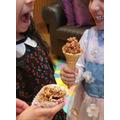 Alayna's cake cones