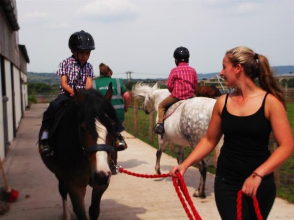 Horse riding was fun at Wellybobs Farm!