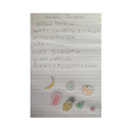 Amaar's fab list of Handa's fruits.