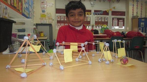 Talhah made his own models for his Learning Log