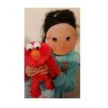 Ayla made an Elmo mask!