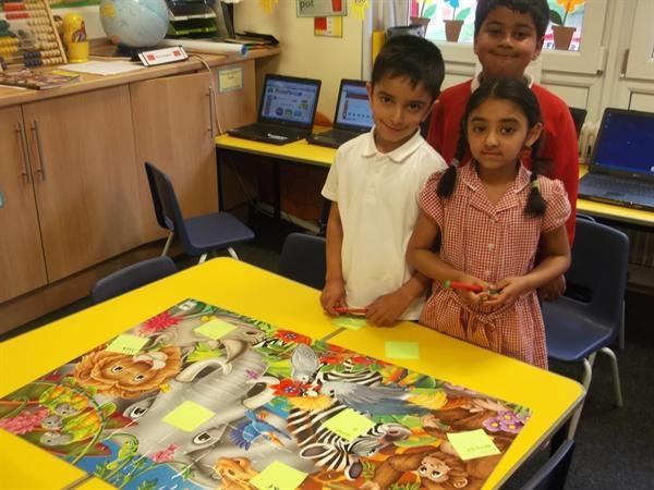 Look at our completed Safari jungle jigsaw!