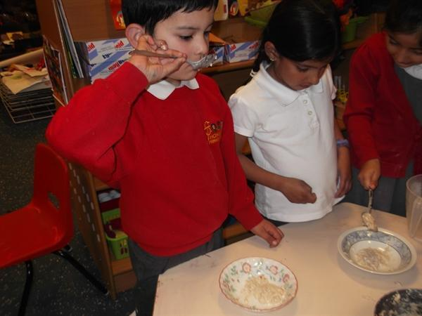 We made our own porridge.