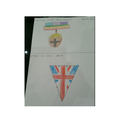 Ayla designed a medal and bunting.
